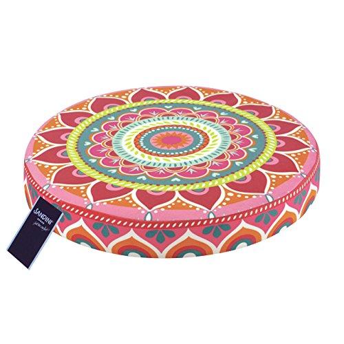 SANDINI Sitzkissen – Mandala by BineBrändle – Dekoration für Haus und Garten Bodenkissen für Kinder – 38 x 6 cm
