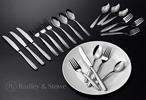 Radley & Stowe 20-Piece Stainless Steel Silverware Set