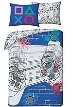 Halantex Playstation - Juego de cama (funda nórdica de 140 x 200 cm y funda de almohada)