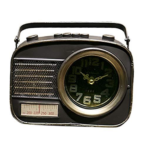 XFSE Reloj de Alarma Arte De Época Decoración para El Hogar Radio con Relojes Y Relojes Ventana De La Tienda