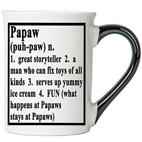 Cottage Creek Coffee Mug, Papaw Mug Large 18 Ounce Ceramic Papaw Coffee Mug / Papaw Gifts Papa Birthday Gifts [White]