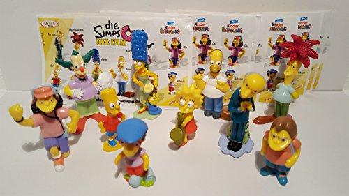 Kinder Überraschung, Los Simpson – Juego completo con todos los BPZ (serie de 2007).