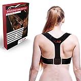 Vigo Sports atmungsaktiver Schultergurt Haltungskorrektur als effektive Rückenstütze I waschmaschinenfester Rückenstabilisator für Damen & Herren I Rücken Geradehalter -