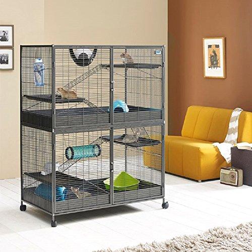 Spaziosa piccola gabbia per animali domestici XL...