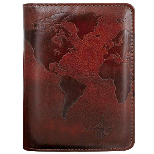 At Night Blocking Print Passport Holder Cover Case Travel Luggage Passport Wallet Card Holder Made With Leather For Men Women Kids Family Merry-go-round carousel