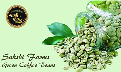 Sakshi Farms Green Coffee Beans | Your Natural Immunity Booster | Weight Loss Manager & Partner: 400 Gm