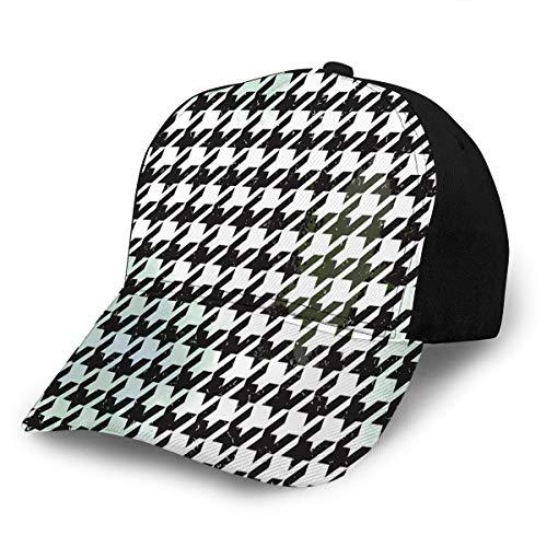 txregxy Baseball Caps Hats Seamless Houndstooth Dad Hat Trucker Cap