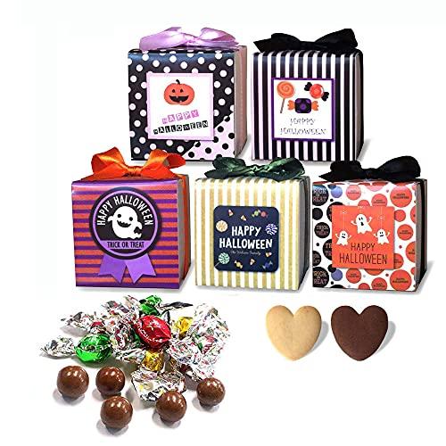 ハロウィン プチギフト お菓子 ばらまき用『ハロウィンカーニバル クッキー&チョコ詰め合わせ』お礼お返し 個包装 人気 大量 業務用 (●100個セット)