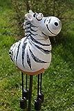 TB Gartenkugel Keramik Zebra Tierfigur Garten Terrasse Kugel Handarbeit Deko