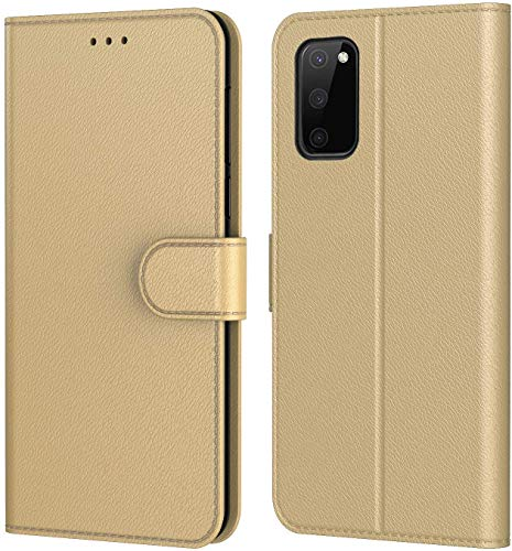 AURSTORE Hülle für Samsung Galaxy S20 FE 4G/5G Handyhülle, Premium PU Leder Schutzhülle Abdeckung,Tasche Leder Flip Case Brieftasche Etui Schutzhülle für (Galaxy S20 FE 4G/5G (6,5 Zoll), Gold)
