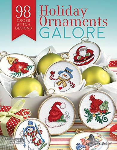 Leisure Arts: Holiday Ornaments Galore: 98 Cross Stitch Designs for Christmas