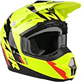Lazer CASCO X7 WHIP CROSS MOTARD ENDURO OFF ROAD ATV QUAD MX MOTO GIALLO FLUO XL