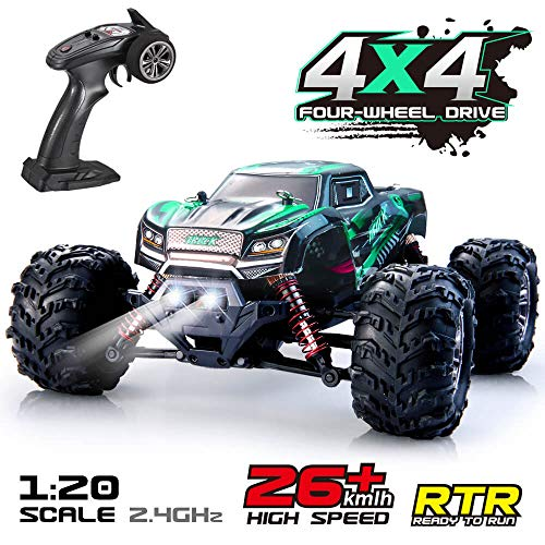 VATOS Remote Control Car RC Car High Speed Off-Road Vehicle 1:20 Scale 26km/h 4WD 2.4GHz RC Monster Truck Electric Racing Car RC Buggy Truck Crawler Electric Hobby Car Toy for Adults and Kids