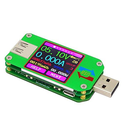KKmoon RD UM24 USB 2.0 Display LCD a Colori Tester Misuratore di Corrente Voltmetro Amperometro Carica Batteria Cavo Impedenza Misura Nessuna Comunicazione Versione