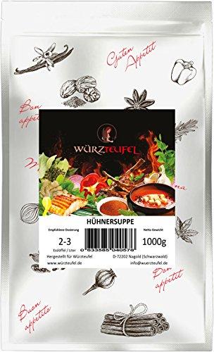 Hühnersuppe, Hühnerbrühe, Hühnerbouillon. Frei von Zusatzstoffen, Vegan. Beutel 1000g. (1KG)