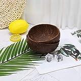 Youliy Gourmet Bol en noix de coco naturelle, 100 % naturel, fabriqué à la main, pour petit déjeuner, servir, décoration