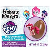 Finders Keepers Milk Chocolate Eggs - My Little Pony Toy Surprise Candy Gifts - Pack of 6 Milk Chocolate Candy Eggs With Assorted My Little Pony Figurines