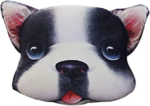 "ChezMax Vivid Dog Plush Stuffed 3D Animal Toy Throw Pillow Pet Back Cushion Gift for Bedroom Nursery Decoration 15.8"" X 15.8"""