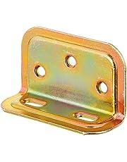GAH-Alberts 340209 versterkingshoek | ingeperst, met sleufgat | elektrolytisch geel verzinkt | 25 x 40 x 70 mm | set van 20