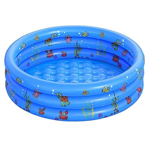 Opblaasbaar zwembad, draagbare ronde zomer peddelen badkuip voor babyblauw 130x40cm, baby badend zwembad,