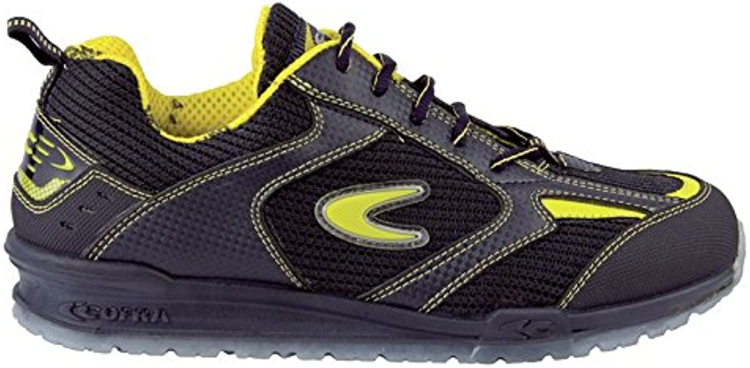 Cofra 78450-000.W45 Size 45 S1 P SRC  Carnera  Safety shoes - Black Yellow - EN safety certified