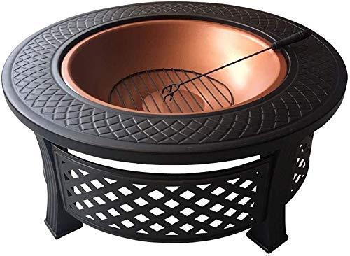 Fuego de incendio al aire libre para patio barbacoa, parrilla ardiente, Fuego al aire libre Pits Burning Pit - Incluye la pantalla de chispas y el póker de registro, ideal para la barbacoa al aire lib