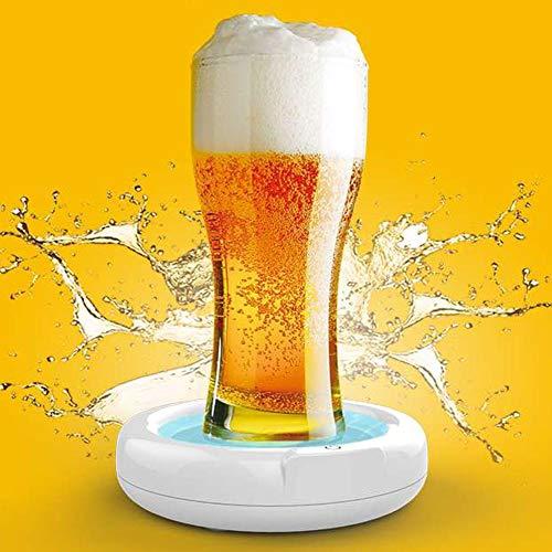 Kafuty Tragbare Ultraschall Bier Aufschäumer 3,7 V 110 kHz Elektrischer Aufschäumer Das Chassis mit Silikonunterlage Geeignet für Familienfeiern, Geschäftstreffen, Bars usw.
