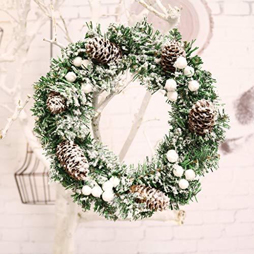 XiuHUa Corona di Natale Home Decorazioni Impiccagione Ornamenti Ornamenti Handmade Artificiale Corona di Fiori, 30 Centimetri Decorazione Natalizia (Color : A)