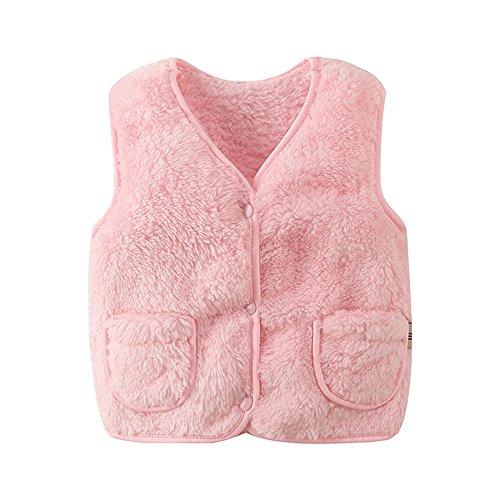 Fashionwu Chaleco de algodón Grueso para Chaleco de Peluche térmico de Color sólido Casual Chaleco,…