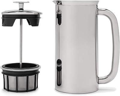Espro Coffee Press P7-18 oz Prensa de café de acero inoxidable pulido con doble pared aislada al aspiradora, Empaque original, Acero inoxidable pulido, 18 oz, 1