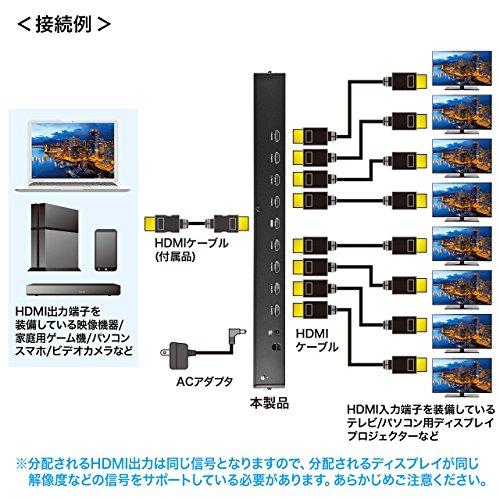 サンワサプライ『4K2K対応HDMI分配器(VGA-UHDSP8)』