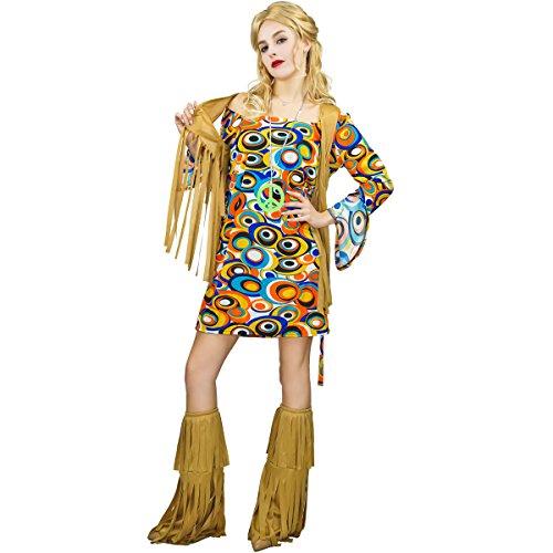 SEA HARE Costume da Donna in Costume Hippie Anni '60 Anni '70