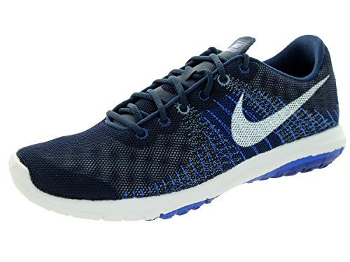 Nike Kids Boys' Flex Fury, Midnight Navy/Lyon Blue/Deep Royal Blue/White, 5.5 Big Kid M