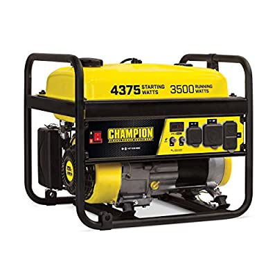 Champion Power Equipment 100555 RV Ready Portable Generator, Yellow and Black