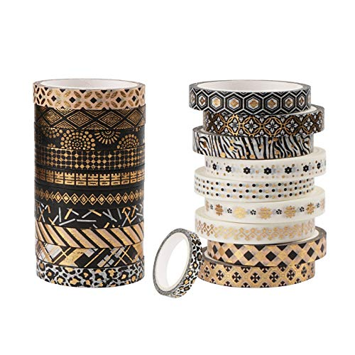 Cinta adhesiva de colores Washi Tape para diario, accesorios decorativos, mascarillas, manualidades, regalos, decoración navideña (7 mm x 5 m)