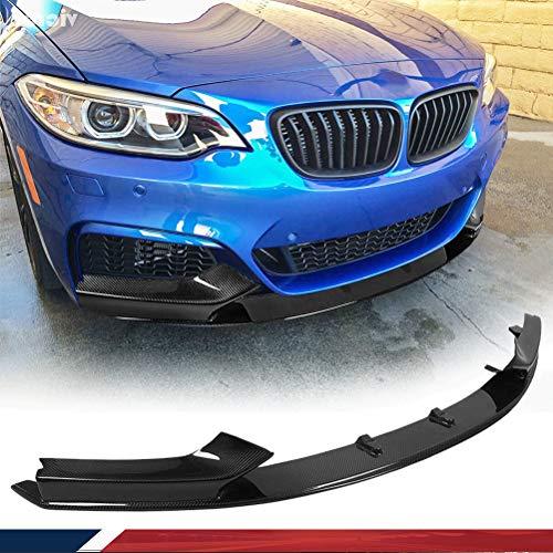 JC SPORTLINE Carbon Fiber Front Lip fits for BMW 2 Series F22 220I 228I 235I M-SPORT 2014-2019 Chin Spoiler Front Bumper Lip Spoiler Chin Splitter Factory Outlet (Honda Accord 2dr Carbon Fiber)