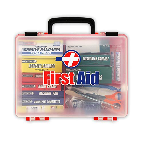 Rapid Care First Aid 81131 Premium 25 Person OSHA/ANSI Compliant Unitized First Aid Kit in Detachable Wall Mountable Poly Case