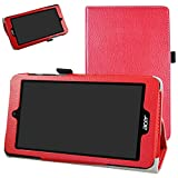 Acer Iconia One 7 B1-780 Custodia,Mama Mouth slim sottile di peso leggero con supporto in Piedi caso Case per 7' Acer Iconia One 7 B1-780 Android Tablet,rosso