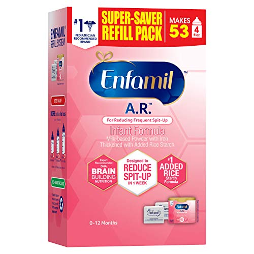 Enfamil A.R. Infant Formula Clinically Proven to reduce Spit-Up in 1 week,...