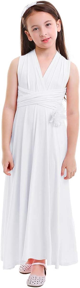 IBTOM CASTLE Flower Girl Pageant Convertible Multiway Wrap Dress Evening Wedding Dance Gown