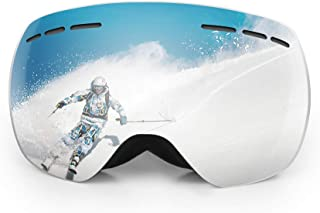 C-Gardian Ski Goggles,Winter Snow Sports Ski Snowboard Skating OTG Design Goggles with Anti-Fog UV400 Protection Dual Lens Snow Goggles for Men Women and Youth
