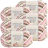 Bernat Baby Blanket Yarn-6/Pk-Little, 6/Pk, Little Petunias 6 Pack