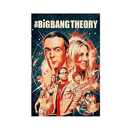 The TV Series The Big Bang Theory Poster di arte vintage poster su tela, decorazione da parete per soggiorno, camera da letto, 30 x 45 cm
