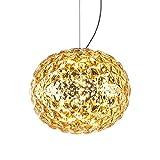 Kartell 9390/GI Planet Lampada a Sospensione, 22W LED, 31x27 cm, Giallo, plastica;tecnopolimero termoplastico trasparente