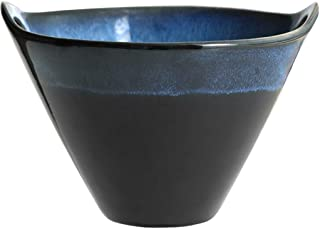 Bowl Creative Insert Chopsticks Ear Ceramic Bowl Bucket Bowl Home Personality Retro Japanese Soup Bowl Noodle Bowl Ajisen Ramen Bowl Hotel Tableware Home Noodles Boiled Fish Soup Bowl