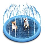 STARDEN Outdoor Sprinkler Splash Pad Toys for Dogs and Kids, Outside Thickened Durable