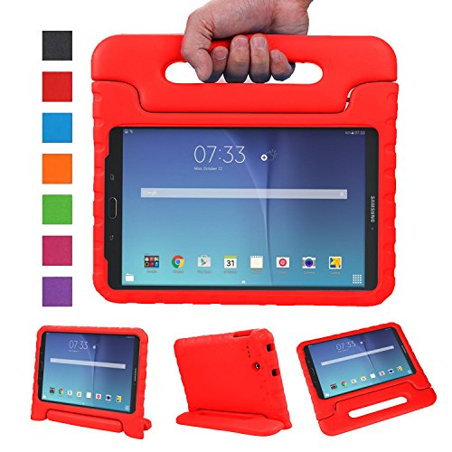 NEWSTYLE Tab E 8.0 Kids Case - Shockproof Light Weight Protection Handle Stand Kids Case for Samsung Galaxy Tab E 8.0 Inch 2015 Tablet (Not Fit Other Tablet) (Red)