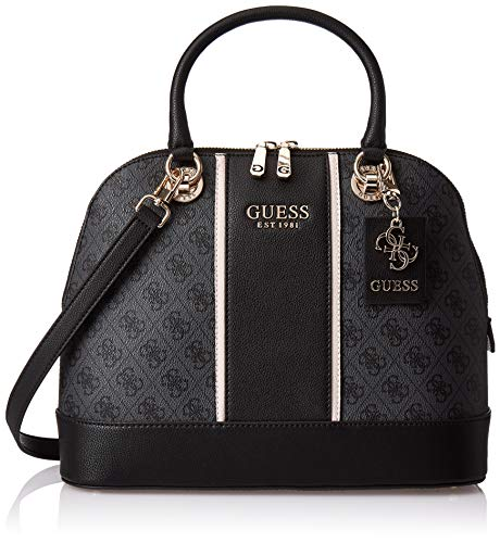 Guess Cathleen Large Dome Satchel, Sacoches Femme, Coal, Taille unique