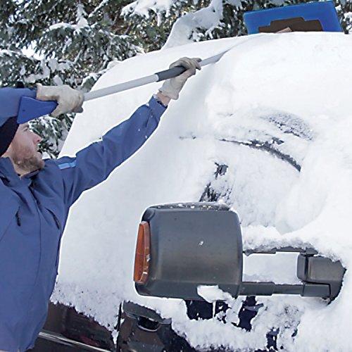 Snow Joe SJBLZD-JMB-SJB 2-In-1 Telescoping Jumbo Snow Broom + Ice Scraper