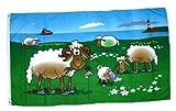 Fahne / Flagge Schafe an der Küste 90 x 150 cm Flaggen